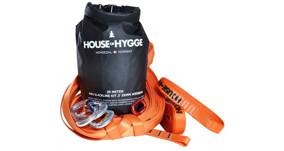 House of Hygge 25 meter PRO Slakkline Kit Assorterte farger